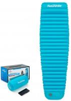 Матрас надувной Naturehike C002 Mummy mattress with pillow S 1850*550*75mm (голубой) (6927595727706)