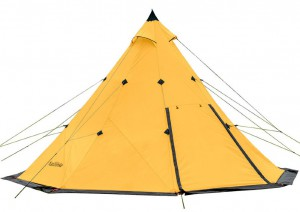 Палатка кемпинговая Naturehike TC 01 Pyramid 5-8 210T 65D polyester yellow (NH17T200-L)