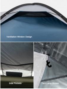 фото Палатка туристическая Naturehike Knight 3+UPF50 190T polyester (NH19G001-Y) #10