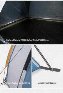 фото Палатка туристическая Naturehike Knight 3+UPF50 190T polyester (NH19G001-Y) #17