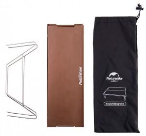 фото Стол походной Naturehike  Compact Table 340 х 250 мм коричневый (NH17Z001-L) #3