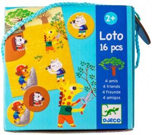Настольная игра Djeco Лото '4 друзей' (DJ08124)