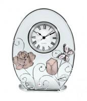 Подарок Настольные часы Jardin d'Ete 'Бабочка с розой' (15796)
