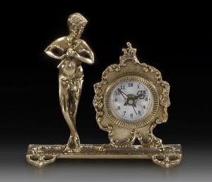 Подарок Часы настольные Virtus Flute-man 17 x 17 см, 980 г (130019)