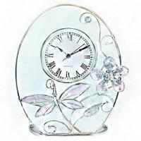 Подарок Настольные часы Jardin d'Ete 'Лиловая стрекоза' (18470E)