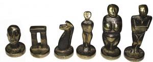 фото Шахматы Manopoulos Кикладский стиль, латунь, в деревянном футляре, бирюзовые, 44 х 44 см (S23BTIR) #4