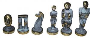 фото Шахматы Manopoulos Кикладский стиль, латунь, в деревянном футляре, бирюзовые, 44 х 44 см (S23BTIR) #5