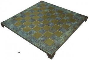 фото Шахматы Manopoulos Кикладский стиль, латунь, в деревянном футляре, бирюзовые, 44 х 44 см (S23BTIR) #6