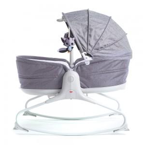 Кресло-кроватка-качалка 3 в 1 Tiny Love 'Мамина любовь' с капюшоном серое (1801706130)