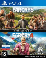 игра Комплект Far Cry 4 + Far Cry 5 PS4 - русская версия