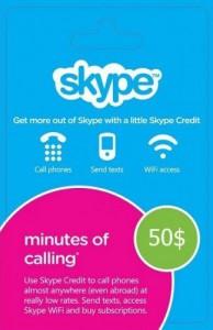 Игра Ваучер Skype 50 USD