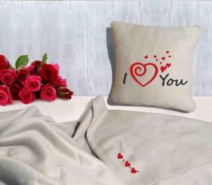 Подарок Подарочный набор: подушка + плед 'I love you' 17