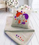 Подарок Подарочный набор: подушка + плед 'I love you' 28