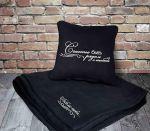 Подарок Подарочный набор: подушка + плед 'Счастье быть рядом с тобой!' 18
