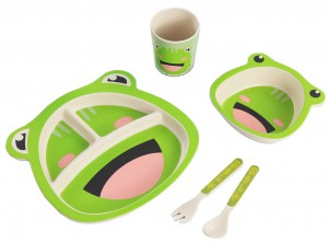 Детский набор бамбуковой посуды UFT Frog из 5 предметов (UFTBP9)