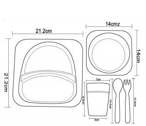 фото Детский набор бамбуковой посуды UFT Львенок из 5 предметов (UFTBP3) #2