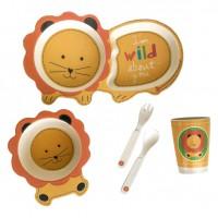 Детский набор бамбуковой посуды UFT Львенок из 5 предметов (UFTBP3)