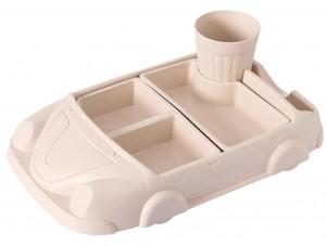 Детский набор бамбуковой посуды UFT Машинка Pink из 2 предметов (UFTBP19)
