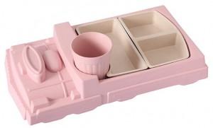 Детский набор бамбуковой посуды UFT Поезд Pink из 2 предметов (UFTBP17)