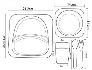 фото Детский набор бамбуковой посуды UFT Слоненок из 5 предметов (UFTBP4) #5