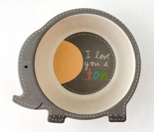фото Детский набор бамбуковой посуды UFT Слоненок из 5 предметов (UFTBP4) #3