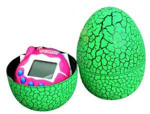 Игрушка UFT электронный питомец Тамагочи в Яйце Динозавра Eggshell Game Green (EggGreen)