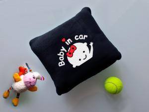 Подарок Детский плед с вышивкой 'Baby in car' 02