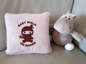 фото Детский плед с вышивкой 'Baby ninja' 03 #3