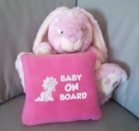 Подарок Детский плед с вышивкой 'Baby on board' 01