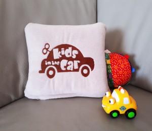 Подарок Детский плед с вышивкой 'Kids Car' 04