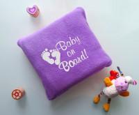 Подарок Детский плед с вышивкой 'Baby on Board' 08
