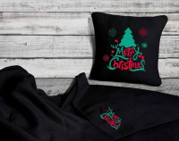 Подарок Набор: подушка + плед 'Merry Christmas' 26