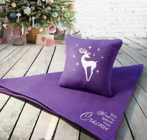 Подарок Набор: подушка + плед 'Пусть Новый Год принесет только счастье' 18