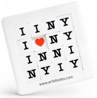 Подарок Пятнашки 'Я люблю Нью-Йорк'