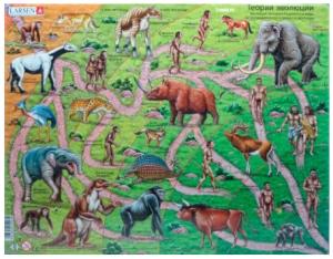 Пазл рамка-вкладыш Larsen Макси 'Теория эволюции' (HL3)
