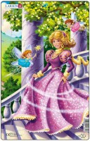 Пазл рамка-вкладыш Larsen Миди 'Принцесса в розовом' (U8-2)