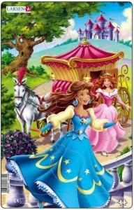 Пазл рамка-вкладыш Larsen Миди 'Принцесса в синем' (U8-1)