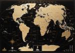 Подарок Скретч карта мира My Map Black Edition Gold