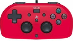 Джойстик HORI Wired Mini Gamepad для консоли PS4 (красный)