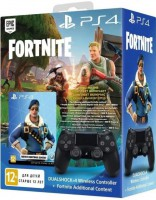 Джойстик Sony Dualshock 4 для консоли PS4 (Black) V2 + Fortnite (9757016)