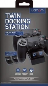 Зарядная станция для 2 джойстиков Dualshock 4 Twin Charge Docking Station (Venom, черный)