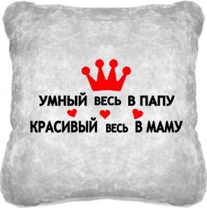 Подарок Сувенирная подушка  'Умный и красивый'  №147