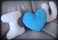 Подарок Набор подушек 'I love you' с голубым сердцем