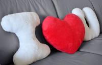 Подарок Набор подушек 'I love you' с красным сердцем