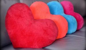фото Подушка 'Сердце' голубое #2