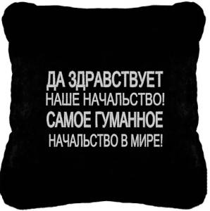 Подарок Сувенирная подушка 'Начальство'
