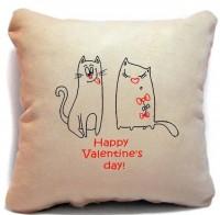 Подарок Подушка-Валентинка  'Happy Valentine's day'
