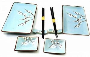 фото Набор для суши 'Сакура на голубом фоне', 2 персоны (DN32818) #2