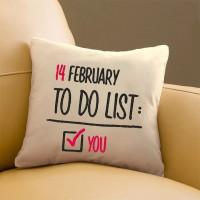 Подарок Подушка для Влюбленных №76  '14 february'