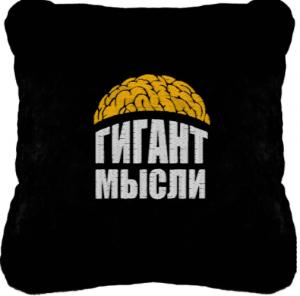 Подарок Сувенирная подушка 'Гигант мысли' №158